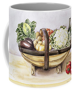 Still Life With A Trug Of Vegetables Coffee Mug
