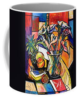 Still Life With Fruit And Calla Lilies Coffee Mug