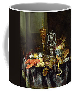 Still Life With Fruit And Shellfish Oil On Canvas Coffee Mug