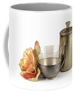 Still Life With Old Cup Rose And Coffe Pot Coffee Mug