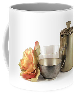 Still Life With Old Cup Rose And Coffe Pot Coffee Mug by Raffaella Lunelli