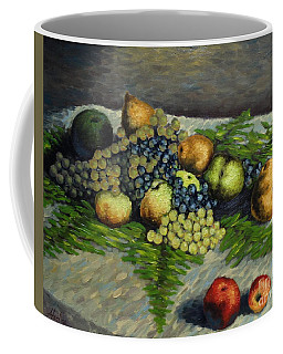 Still Life With Pears And Grapes Coffee Mug