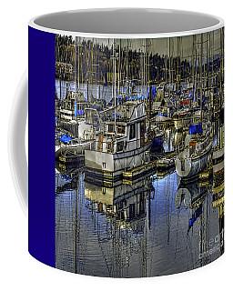 Coffee Mug featuring the photograph Still Water Masts by Jean OKeeffe Macro Abundance Art