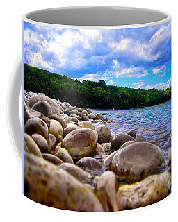Coffee Mug featuring the photograph Stone Beach by Zafer Gurel