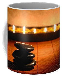 Stone Cairn And Candles For Quiet Meditation Coffee Mug