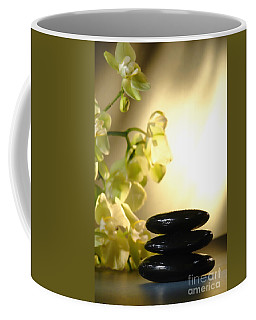 Stone Cairn And Orchids Coffee Mug