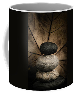 Stone Cairns II Coffee Mug by Marco Oliveira