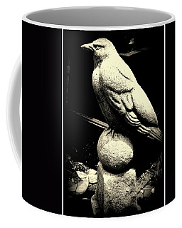 Stone Crow On Stone Ball Coffee Mug by Kathy Barney