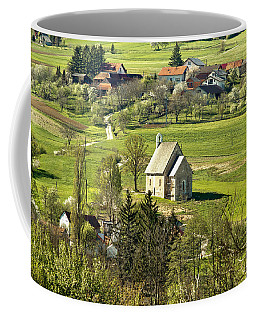 Stone Made Church In Green Nature Coffee Mug