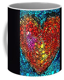 Stone Rock'd Heart - Colorful Love From Sharon Cummings Coffee Mug