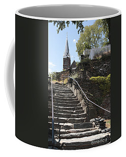 Stone Steps And Saint Peters Church At Harpers Ferry Coffee Mug