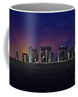 Coffee Mug featuring the photograph Stonehenge Looking Moody by Terri Waters