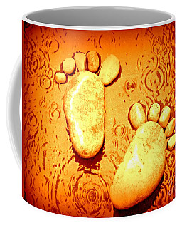 Stoney In The Rain Coffee Mug by Clare Bevan