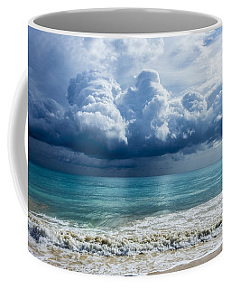 Coffee Mug featuring the photograph Storm Clouds At Waimanalo by Leigh Anne Meeks