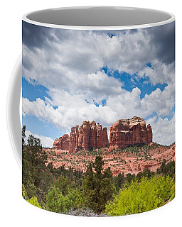 Storm Clouds Over Cathedral Rocks Coffee Mug by Jeff Goulden