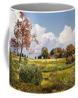 Coffee Mug featuring the photograph Storm Clouds Over Country Landscape by Christina Rollo