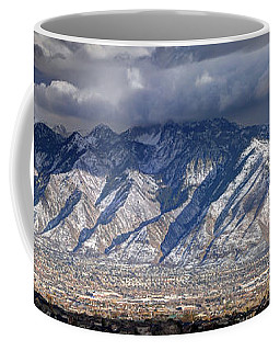 Storm Front Passes Over The Wasatch Mountains And Salt Lake Valley - Utah Coffee Mug