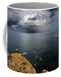 A Mediterranean Sea View From Sa Mesquida In Minorca Island - Storm Is Coming To Island Shore Coffee Mug