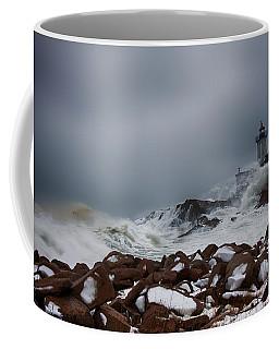 Storm Off Eastern Point Lighthouse Coffee Mug