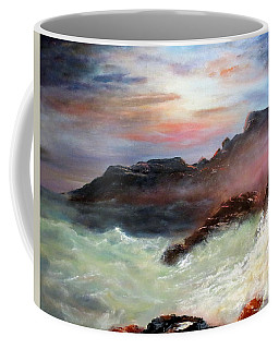 Storm On Mount Desert Island Coffee Mug by Lee Piper