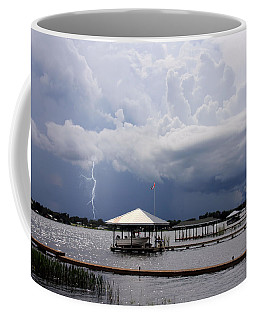 Storm Over Clay Lake Coffee Mug by Rosalie Scanlon