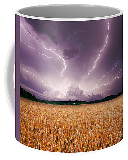 Storm Over Wheat Coffee Mug by Alexey Stiop