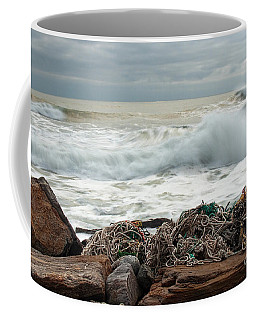 Storm Surf At Rye Beach Coffee Mug