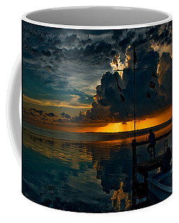 Sunset Tropical Storm And Watcher In Florida Keys Coffee Mug