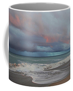 Coffee Mug featuring the painting Storms Comin' by Mim White