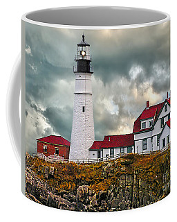 Stormy Portland Head Light Coffee Mug