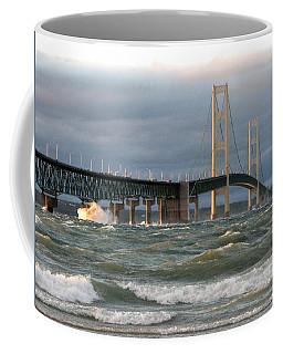 Stormy Straits Of Mackinac Coffee Mug