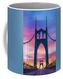Straight Down The Bridge Coffee Mug