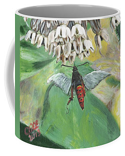 Strange Bug At Flowers Coffee Mug