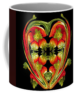 Strawberry Heart Coffee Mug