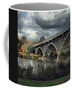 Strawberry Mansion Bridge Coffee Mug by Katie Cupcakes