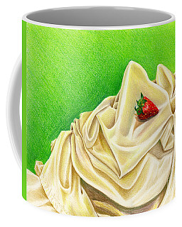 Coffee Mug featuring the painting Strawberry Passion by Nancy Cupp