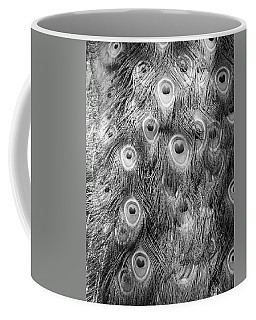 Coffee Mug featuring the photograph Stream Of Eyes - Black And White by Diane Alexander