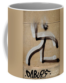 Coffee Mug featuring the photograph Street Art 'dablos' Graffiti In Bucharest Romania  by Imran Ahmed