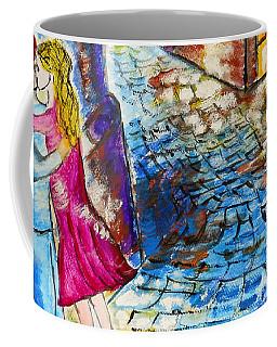 Street Kiss By Night  Coffee Mug by Ramona Matei