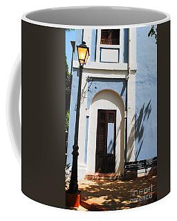 Street Lamp And Blue Coffee Mug