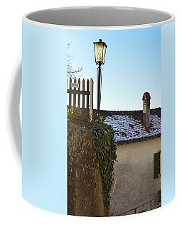 Coffee Mug featuring the photograph Street Lamp At The Castle  by Felicia Tica