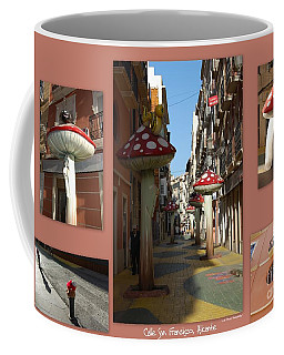 Street Of Giant Mushrooms Coffee Mug by Linda Prewer