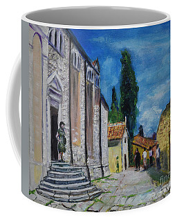 Street View In Rovinj Coffee Mug