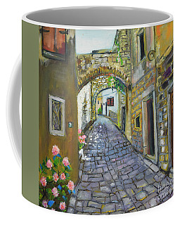 Street View In Pula Coffee Mug