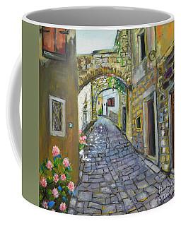 Street View In Pula Coffee Mug