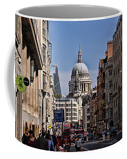 Street View Of St Paul's Cathedral Coffee Mug by Nicky Jameson