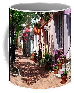 Alexandria Va - Street With Art Gallery And Tobacconist Coffee Mug