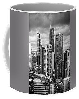 Streeterville From Above Black And White Coffee Mug