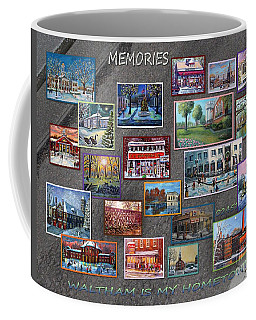 Coffee Mug featuring the painting Streets Full Of Memories by Rita Brown