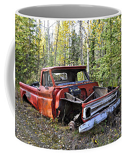 Coffee Mug featuring the photograph Stripped Chevy by Cathy Mahnke